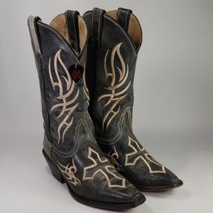 Justin Womens Cross Western Cowboy Boots
